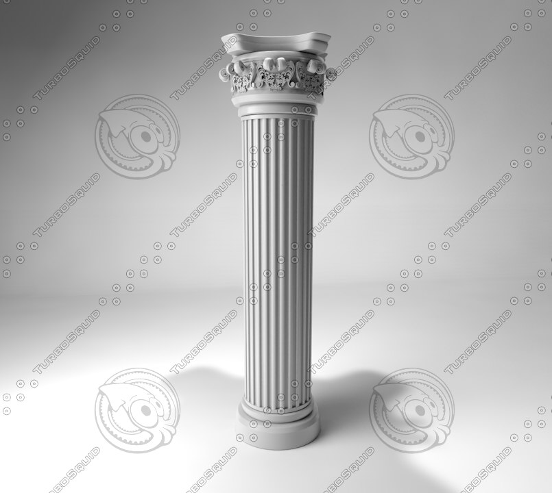 3d c4d pillar column baroque