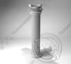 3d c4d pillar column baroque