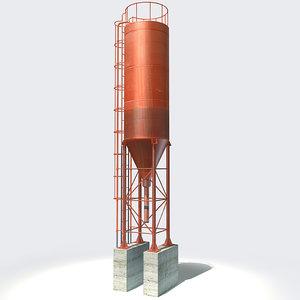 3d concrete water tank model