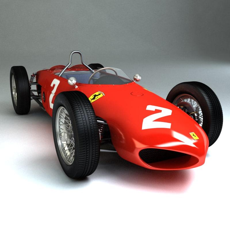 3d 1961 ferrari 156 car model