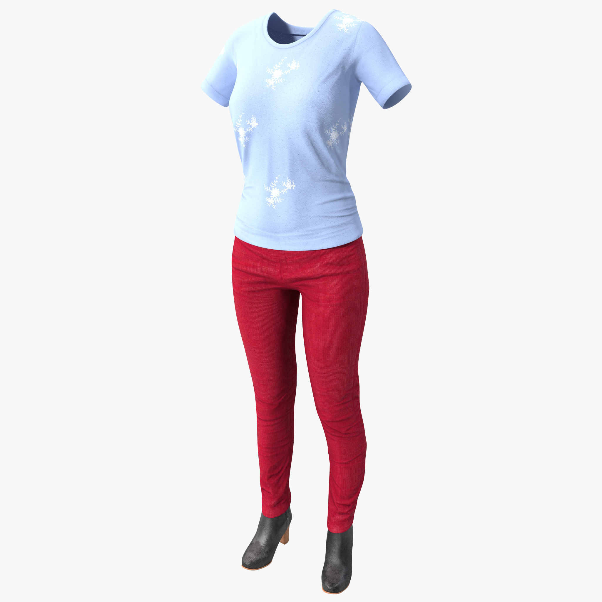 3d female casual clothes 2