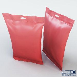 food packaging 150 grams 3d max