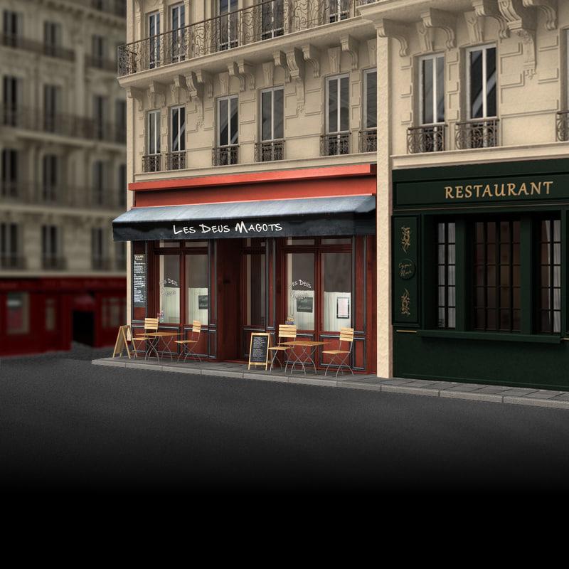 france restaurant obj