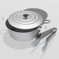 3d pot kitchen model