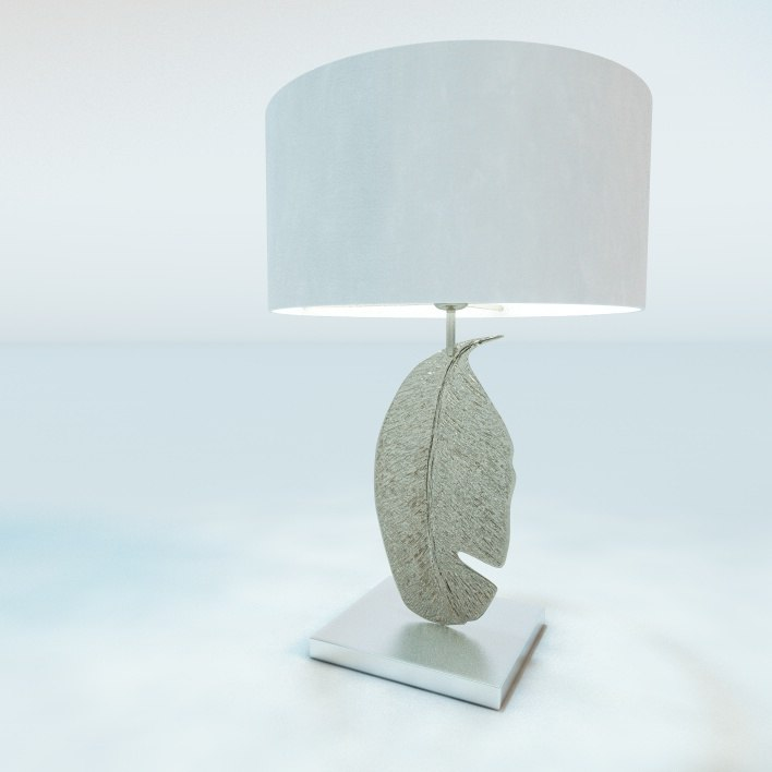 leaf nickel table lamp 3ds