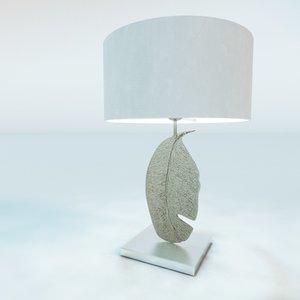 leaf nickel table lamp 3ds