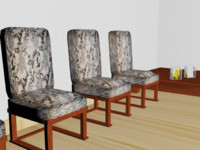 free waiting room 3d model