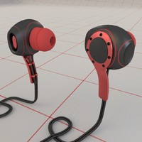 concept earphones 3d model