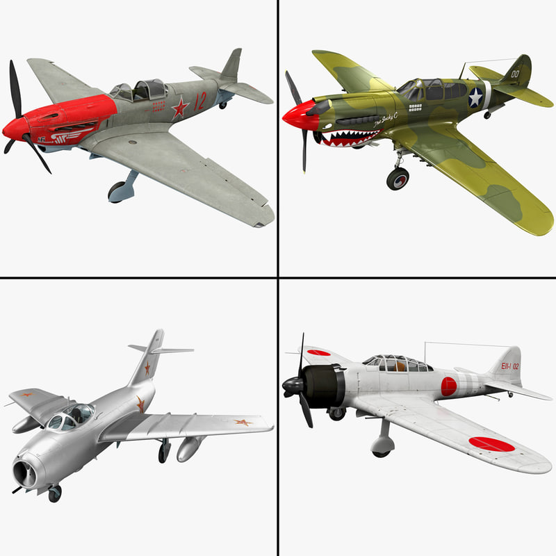 3d model rigged fighter plane