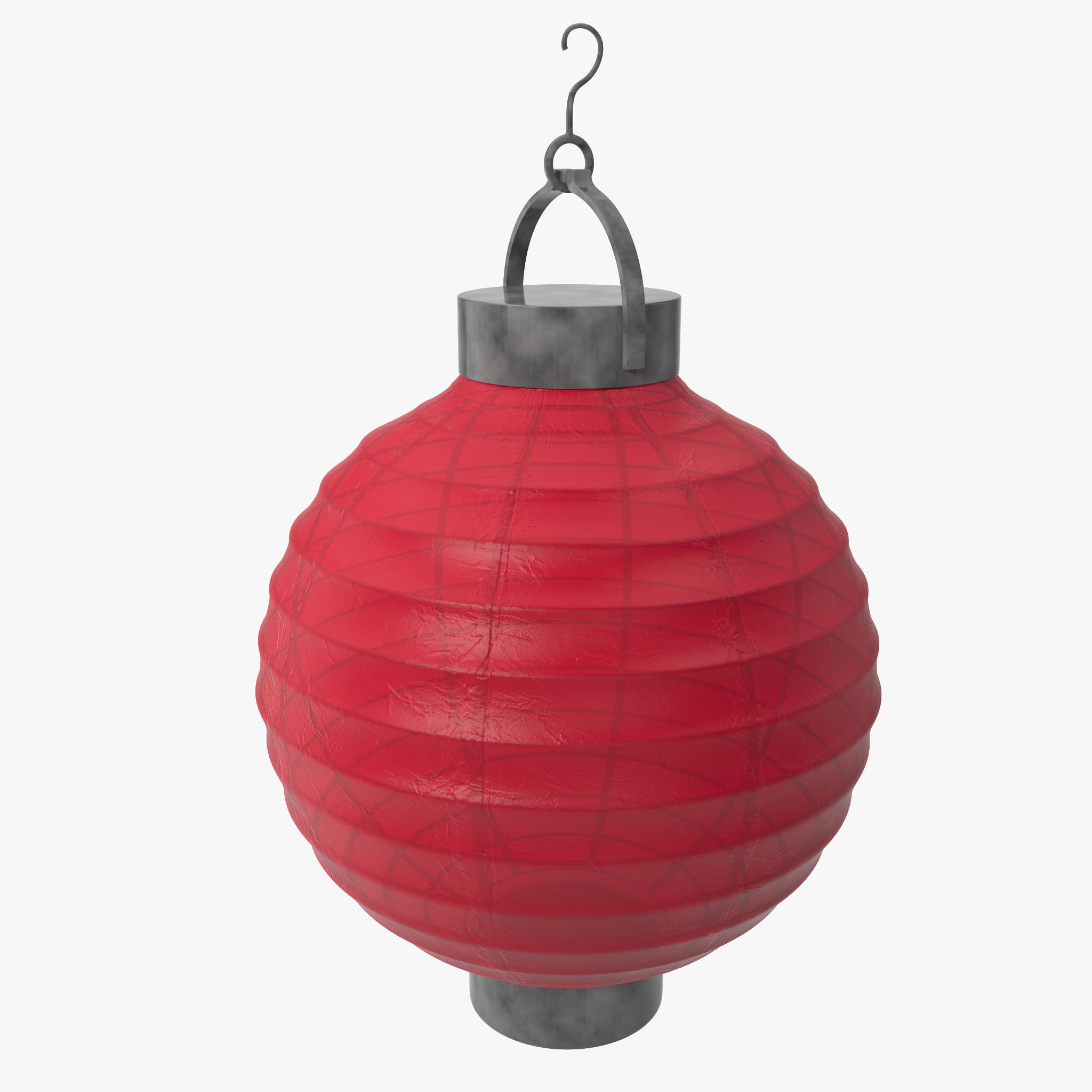 paper lantern design 3d model