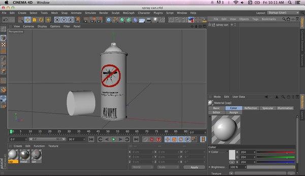 3d model mosquito spray