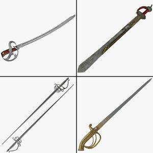 3d model of sword v8