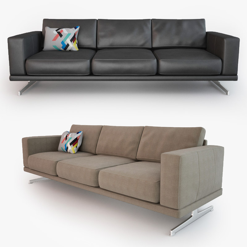 carlton sofa 3d model. Black Bedroom Furniture Sets. Home Design Ideas