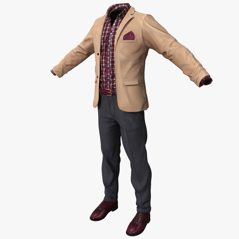3ds max work casual clothes