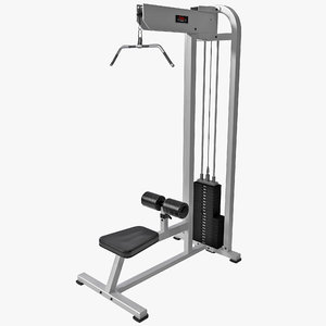 3d model of york lat pulldown machine