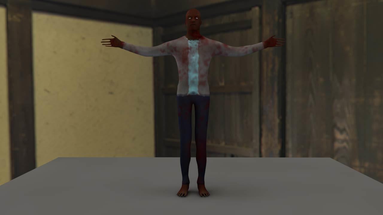 3d c4d zombie