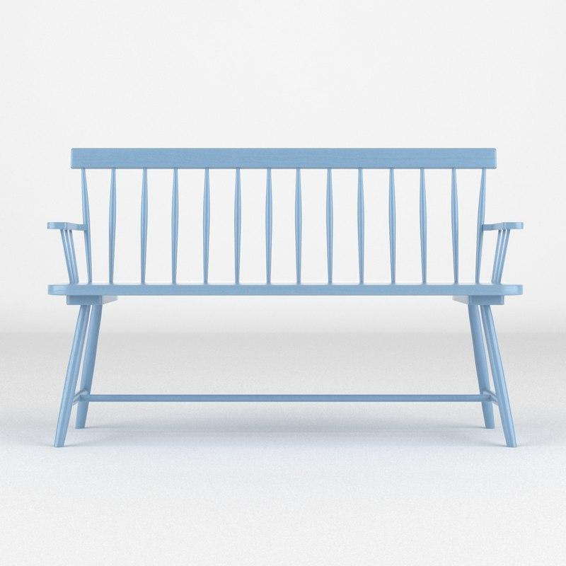 bench realistic 3d model