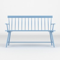bench realistic 3d model