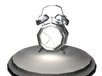Alarm Clock Low poly