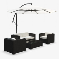 Garden Furniture with Sunbrella - Synthetic Rattan