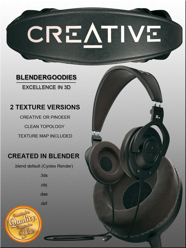3d model headphones phone