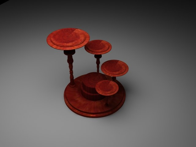 flower table 3d max