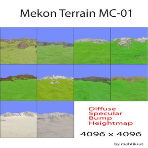 terrain mc 3d max