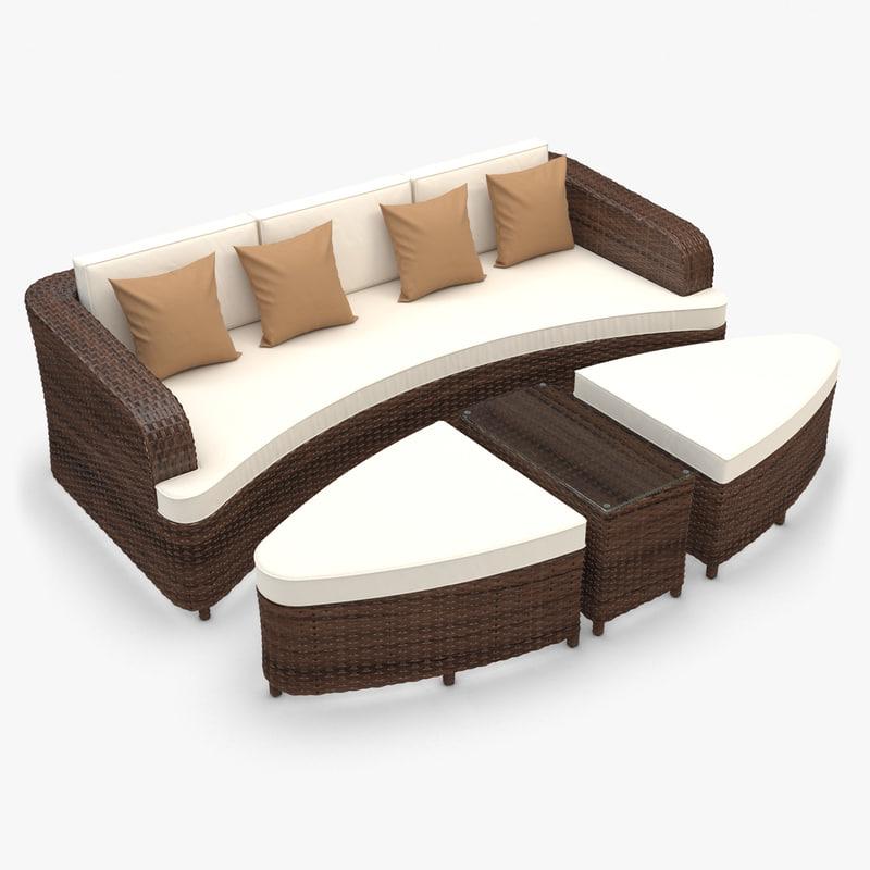monterey sofa rattan furniture 3d max