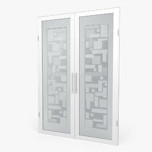 glass door 3d c4d