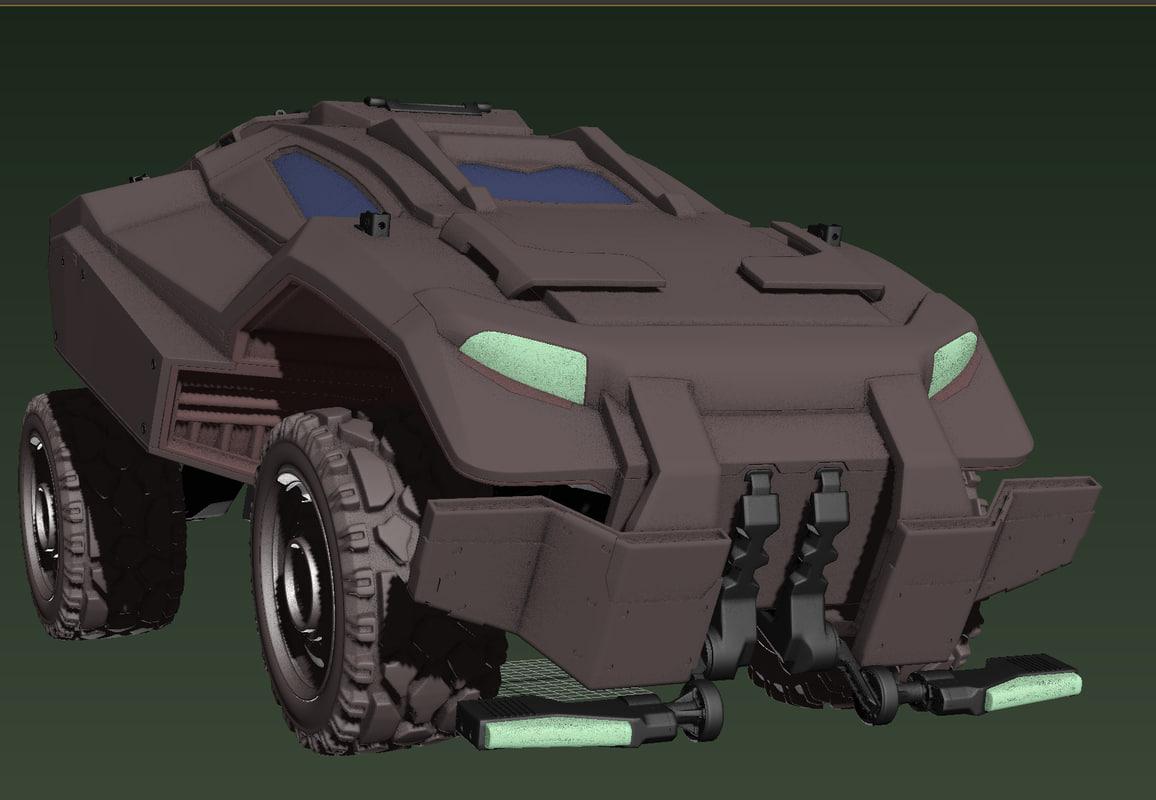 3d model military vehicle
