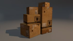 3ds max shipping box