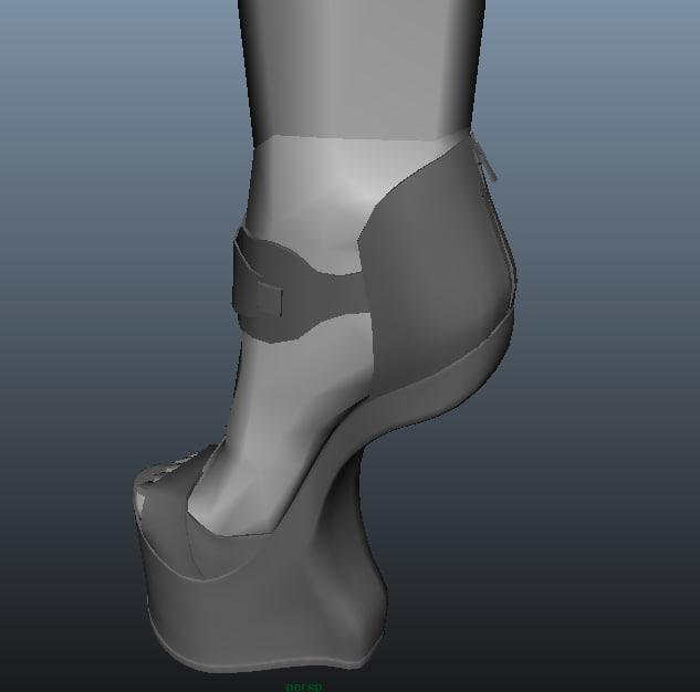 3d model shoe 1