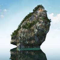 3d model thailand rock