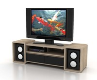 3d model contemporary tv cabinet