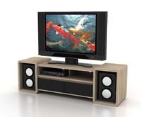 contemporary tv rack