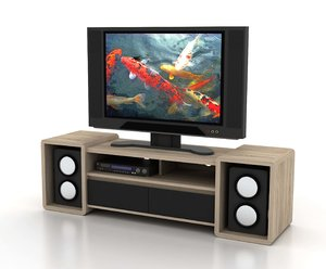 3d model contemporary tv cabinet