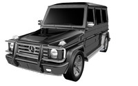 mercedess-benz g55 amg 3d model