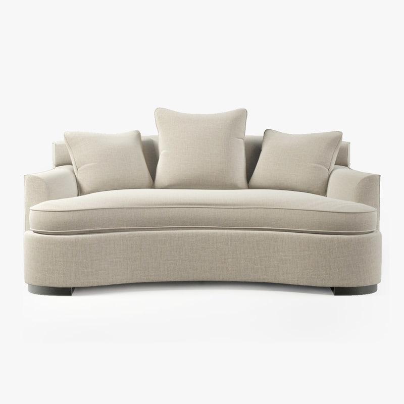 3d model bolier modern luxury sofa