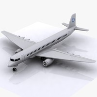 aircraft toon cartoon 3d model