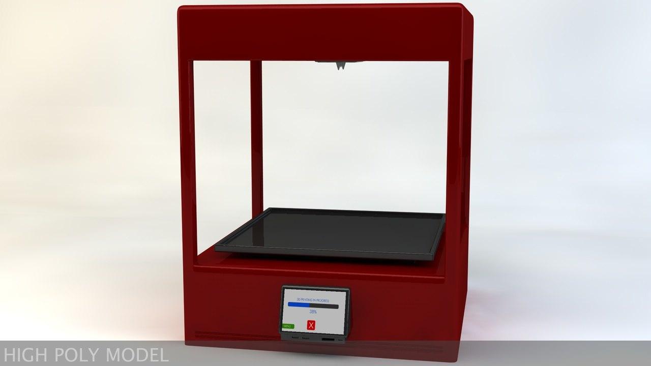 3d model printer modelled