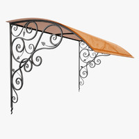 3d model of wrought iron awning