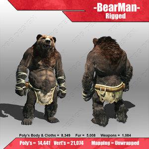 bear man 3d max