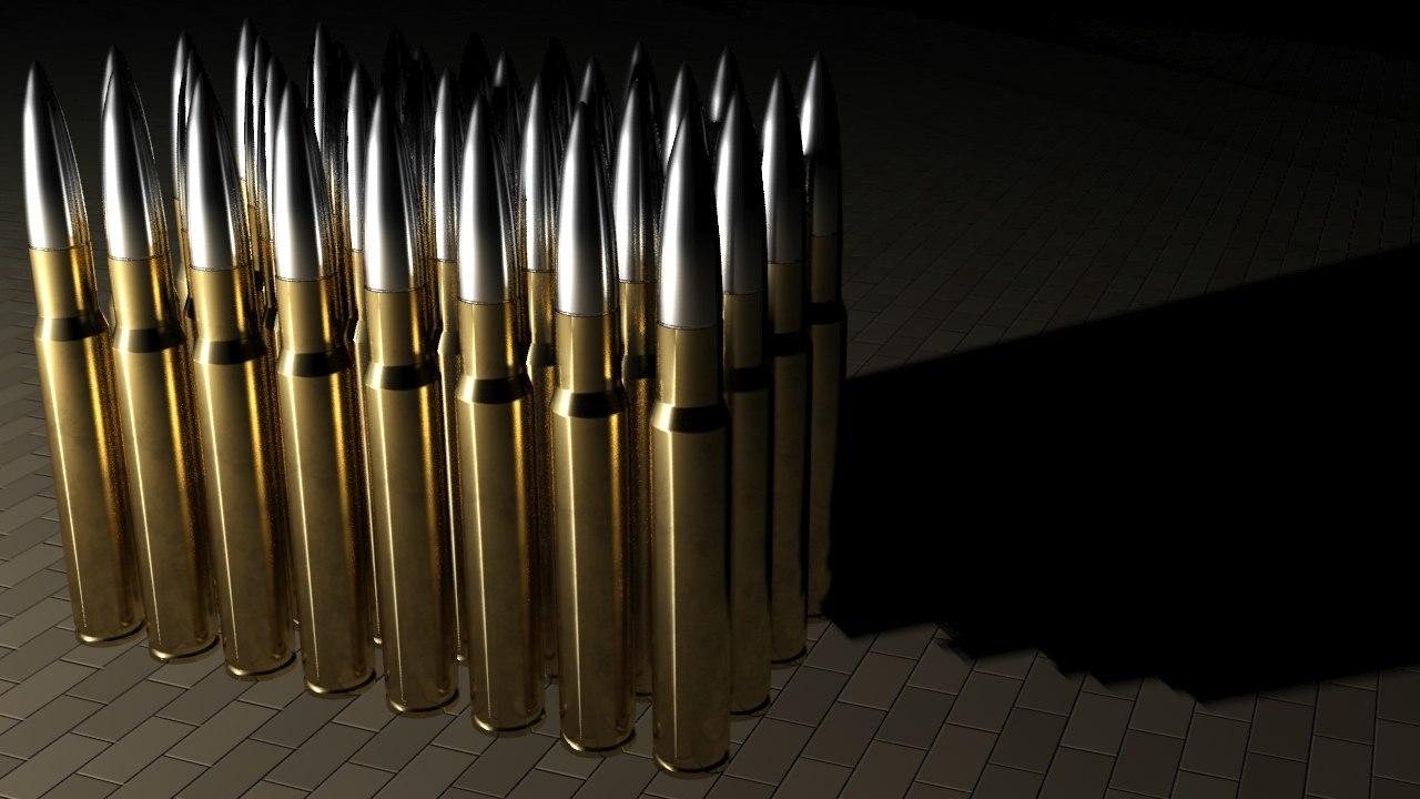 3d 50 cal barrett bullet model