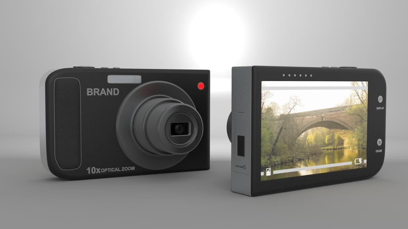 3dsmax stock digital camera