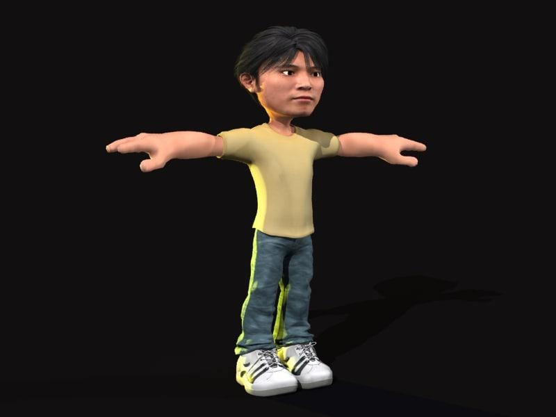 3d model asian man