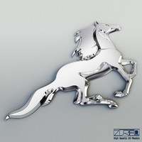 chrome horse v 1 3d max