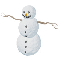 3ds natural snowman