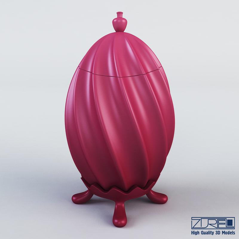 3d egg lamp model