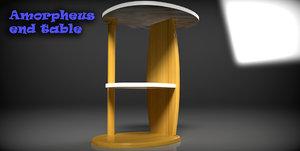 3d amorpheous end table