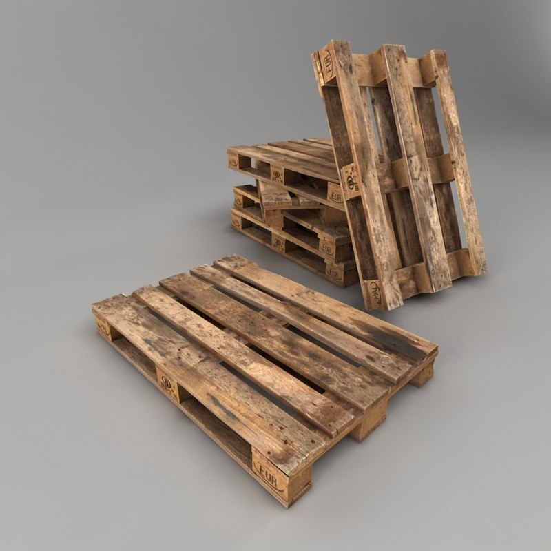 3ds max wooden pallet wood